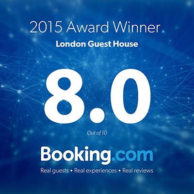 London Guest House hotel award